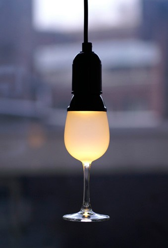 LED Wijnglas lamp